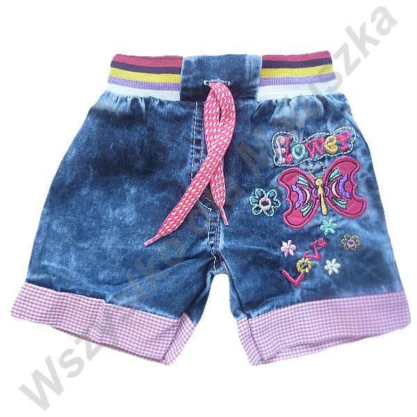 d0b349779650 Krótkie spodenki jeansowe dziewczęce 86 92